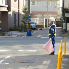 真庭市で交通整備をしているイメージ画像