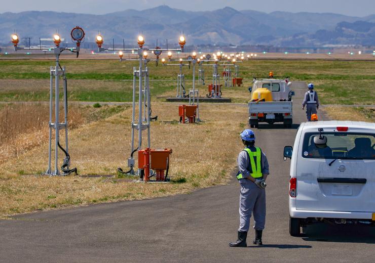 道路工事による交通誘導警備
